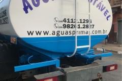 Adesivo para Caminhão, com instalação, para o cliente Águas Primar