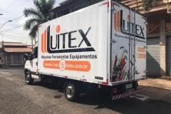 Adesivo para Caminhão, com instalação, para a frota do cliente Luitex