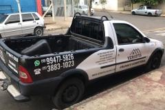 Adesivo para Veículo, com instalação, para a frota do cliente Versátil Calhas e Coberturas
