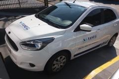 Adesivo para Veículo, com instalação, para a frota do cliente Novaseg Segurança do Trabalho e Meio Ambiente