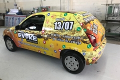 Adesivo para Veículo, com instalação, para o cliente Evoke Sunset Club