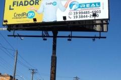 Lona para Outdoor para campanha publicitária do cliente Real Negócios Imobiliários