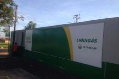 Painel com Lona para o cliente Liquigás