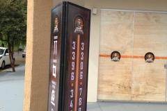 Totem em Lona produzido para o cliente A Loja do Marceneiro